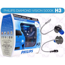 Lâmpada H3 Philips Diamond Vision Super Branca 5000k