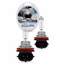 Lâmpada Philips X-treme Vision +100% H11 Super Branca - Par