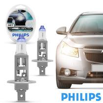 Par De Lâmpada Philips Xtreme Vision H1 Dobro De Alcance