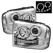 Farol Projector Angel Eyes Led + Xenon Ford F250 2007 A 2013