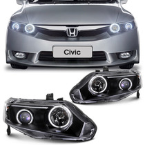 Farol New Civic 2006 2007 2008 2009 2010 Angel Eyes Led Neon