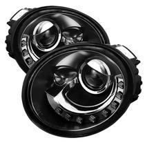 Farol Projector Drl Led Vw New Beetle 06/12 Black