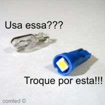 3 Lâmpada Led Pinguinho Esmagadinha Azul Branco Uv Rosa T5