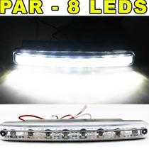 Farol Milha Neblina Day Light 8 Led Lampada 12v Carro Moto