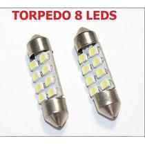 Lampada Torpedo 36mm 8 Leds Smd Interior Placa - Leilão