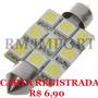 Lâmpada Led Torpedo 42mm 9 Led´s Smd 5050 12v Frete R$ 6,90