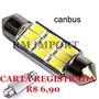 Lâmpada Led Canbus Torpedo 36mm 9 Led Smd 5630 Frete R$6,90