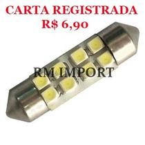 Lâmpada Led Torpedo 36mm 8 Led´s Smd 3528 12v Frete R$ 6,90