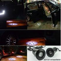 Luz Cortesia Led Cree Projetor De Logomarca Vw Gm Audi Bmw