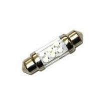 Lampada Torpedo Luz Teto 31mm Leds Smd Super Branca Par
