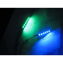 Módulo 6 Led Fácil Instalar Carro Pc Uv Luz Negra Azul Verde