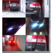 Vermelho 1 Par Drl Luz Rolagem Led Milha Lampada Automotiva