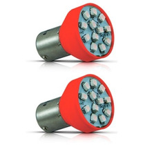 Lampada Led 1 Pólo Smd Luz De Ré E Pisca Luz Vermelha / Par