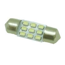 Lampada Torpedo 9 Leds Smd Super Branca 31mm - Unidade