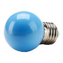 Lâmpada Bolinha De Luz Led E27 Azul 1w Sorocaba-sp