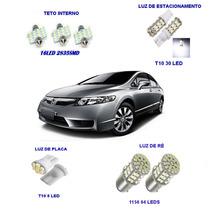 Super Kit Lampada Led Honda New Civic Frete Apenas R$8,00