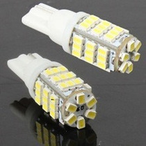 Par Lampada Pingo 42 Leds Super Branca Efeito Xenon T10 W5w