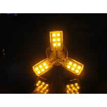 Lampada De Led Spider 1156 24 Smd 12 Volts 1 Polo Alaranjado