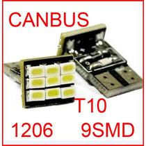Lâmpada Pingo T10 Canbus (canceler) C/ 9 Led Super Branca