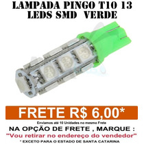 Pingo T10 13 Leds Smd 5050 Verde - Unidade