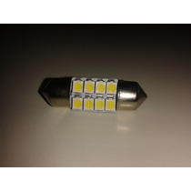 Torpedo 31mm 8 Leds Smd Luz Cortesia Placa Teto Xenon