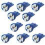 Kit 10 Lampadas Pingo T10 4 Leds Smd Azul Frete Gratis