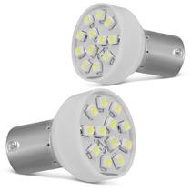 Lampada Tuning 12 Leds Lanterna Traseira Ré Luz Super Branca