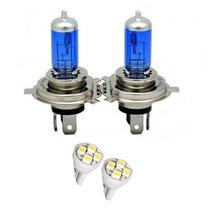 Lampada Super Branca H4 55/60w 12v Efeito Xenon Gratis Pingo