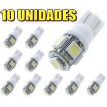 Kit 10 Lampadas Super Leds Pingos 25x + Forte 5 Leds 5050