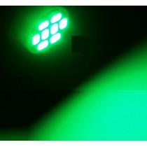 Kit 5 Lampadas Pingo Verdes T10 W5w 8 Leds Smd 3528
