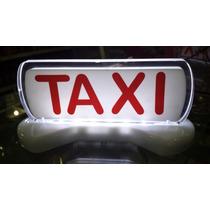 Luminoso Táxi Imantado Médio Iluminação Led Cor Vermelho