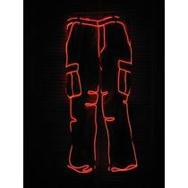 Fio De Luz Neon Led Vermelho 3 Metros + Controle