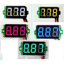 Mini Voltímetro Digital Automotivo Led Medidor Bateria2.5~30