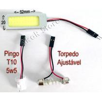 Placa Led Cob Adaptador Pingo T10 Torpedo Com Adesivo 3m Luz