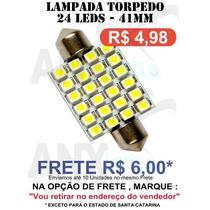 Lampada Torpedo 24 Leds Smd 41mm Super Branca Xenon