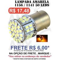 Lampada 1156 1 Polo 50 Leds Amarela - Pisca 12v