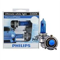 Lampada H4 H7 Philips Diamond Vision 5000k Super Branc Xenon