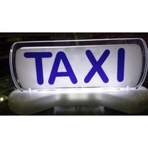 Luminoso Para Táxi Pequeno Led Especial Imantado Cor Azul