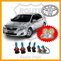 Kit Lâmpadas Super Brancas Corolla 03/07 2 Hb3+2 Hb4+2 H3+bd