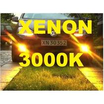 Lâmpada Xênon Par 3000k H1 H3 H4 H7 H11 H27 Hb3 Hb4 Amarelo