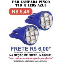 Par Pingo 8 Leds Smd 1210 T10 Azul - Super Oferta