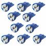 Kit 10 Lampadas Pingo T10 4 Leds Smd Azul Neon Frete Grátis