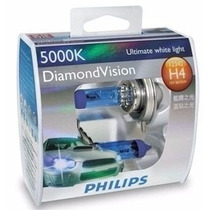 Lâmpada Diamond Vision Philips Super Branca H4 5000k