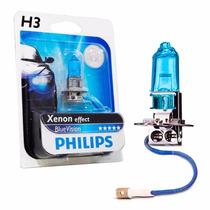 Lampada Blue Vision H3 Farol Xenon Super Branca Philips