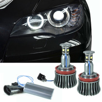 Kit Lampâda H8 P/ Bmw Angel Eyes Led Branco 6000k 320 120 X1