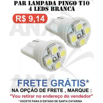 Par Lampadas Pingo T10 4 Leds Smd Branca - Frete Gratis