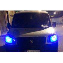 4 Lâmpadas Pingo Tipo Xenon 5led 5050 Smd T10 W5w Azul 6500k