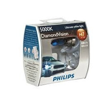 Par Lâmpadas Philips Diamond Vision H7 - 5000k