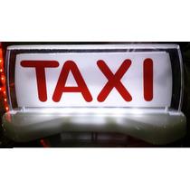 Luminoso Táxi Pequeno Led Especial Imantado Cor Vermelho