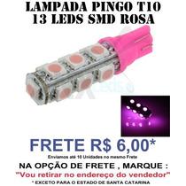 Pingo T10 13 Leds Smd 5050 Rosa - Unidade